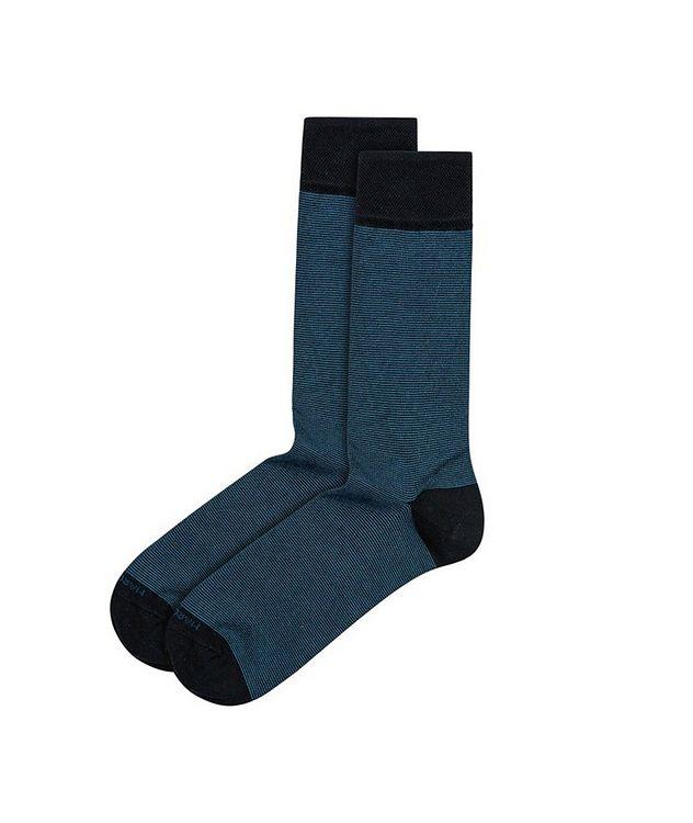 Microstriped Cashmere-Blend Socks picture 1