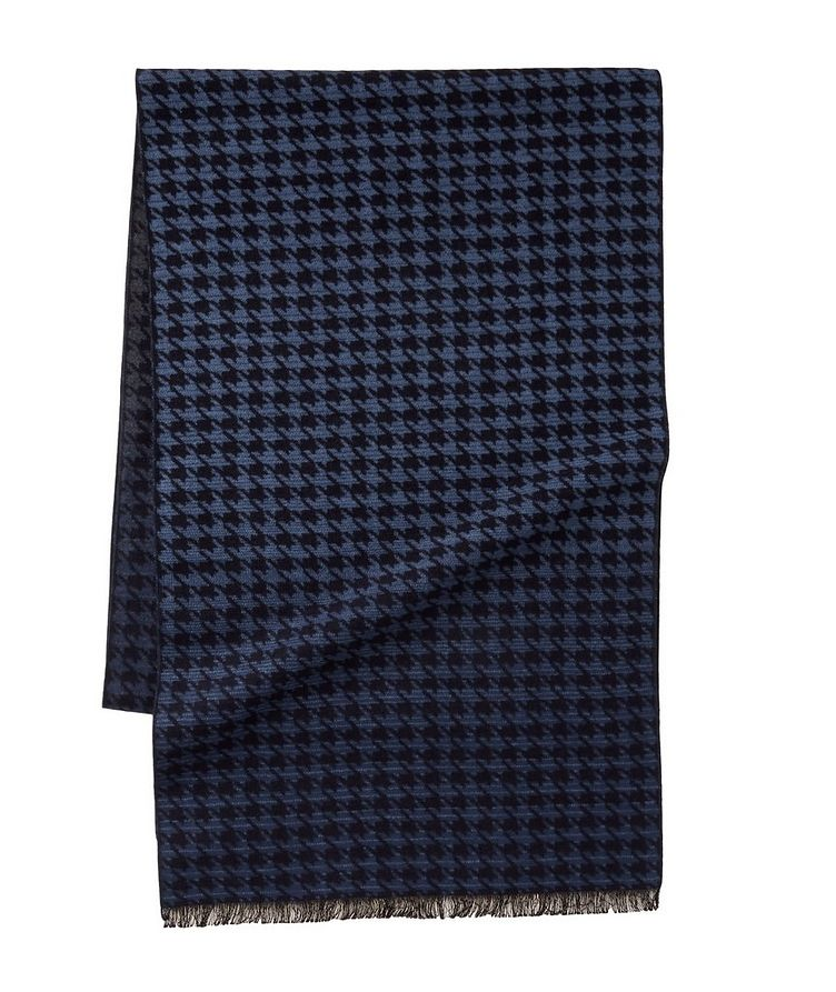 Houndstooth Reversible Silk Scarf image 0