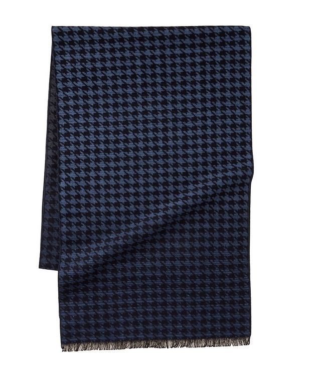 Houndstooth Reversible Silk Scarf picture 1