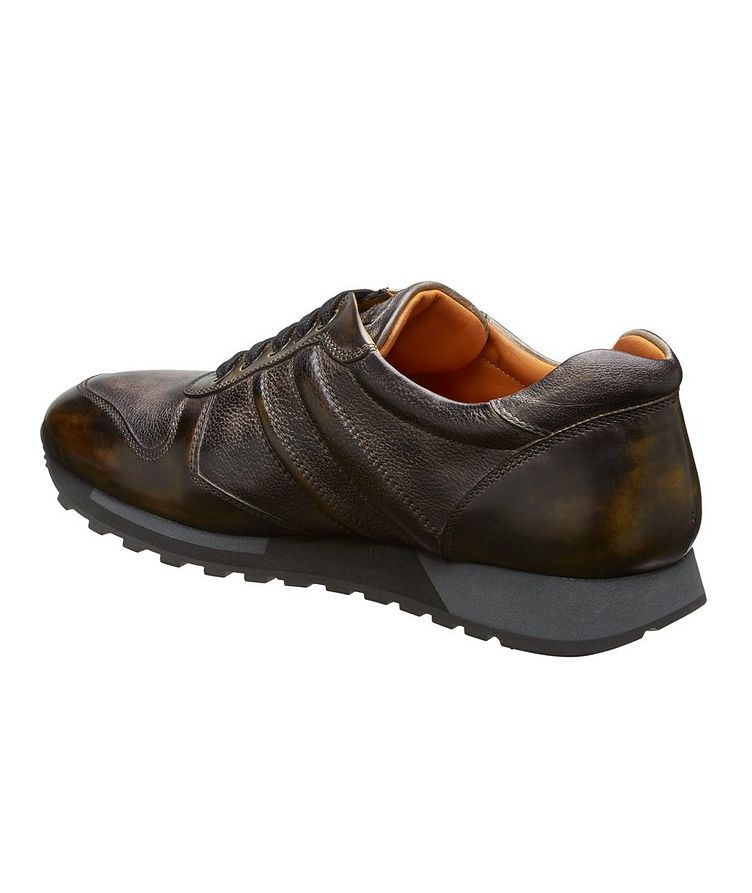 Burnished Leather Sneakers image 1