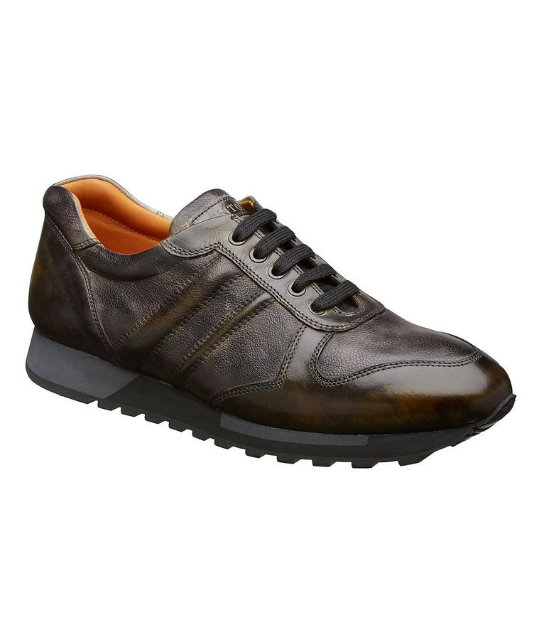 Burnished Leather Sneakers image 0