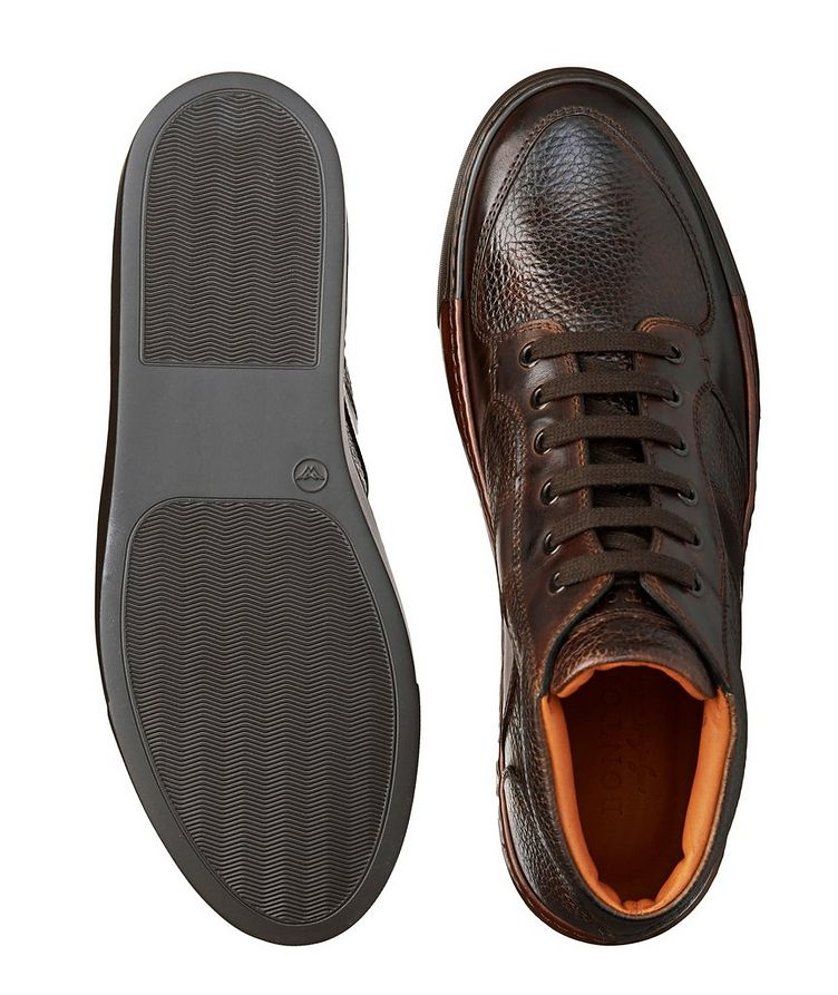 Burnished Grain Leather Sneakers image 2