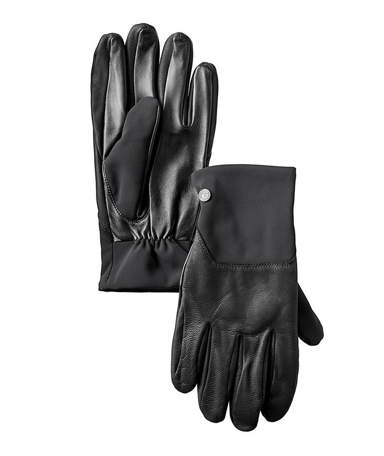 Mixed Media Leather Gloves image 0
