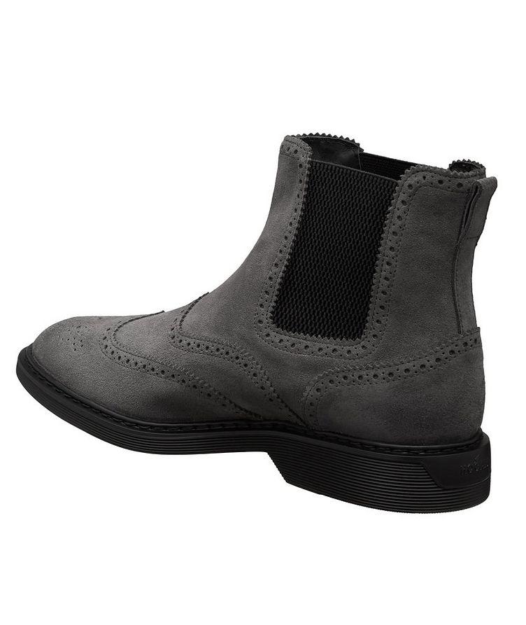 Suede Wingtip Chelsea Boots image 1