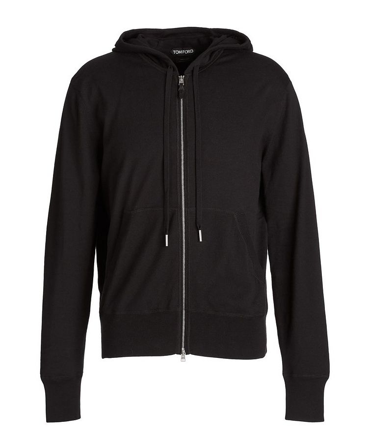 Cotton, Silk, And Cashmere Zip-Up Hoodie image 0