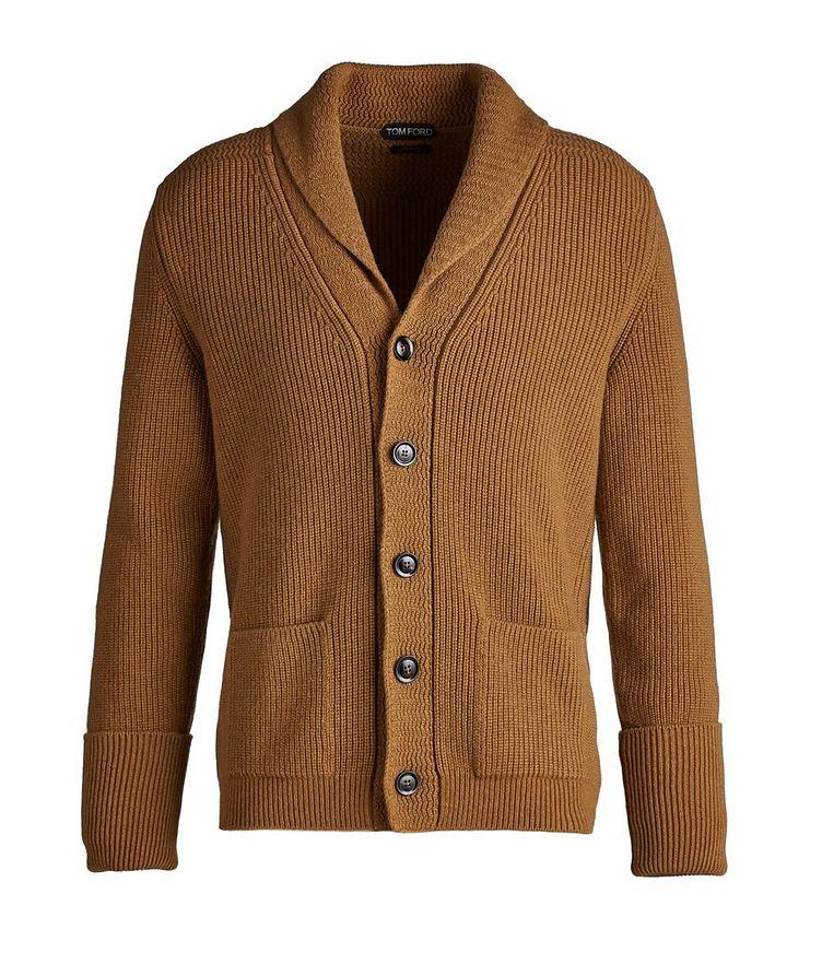 McQueen Shawl Collar Cashmere Cardigan  image 0