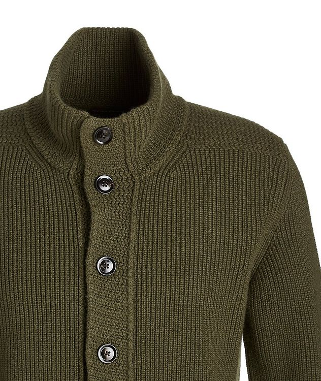 Ribbed Knit Cashmere Cardigan picture 2