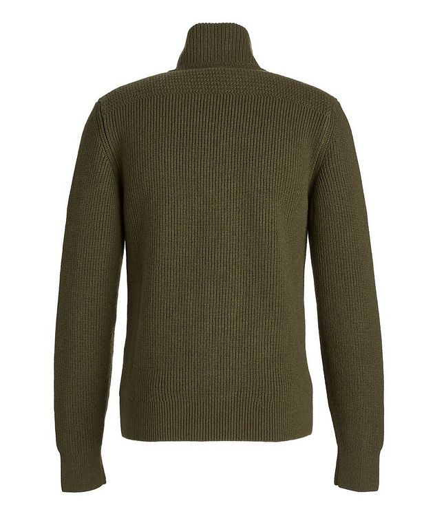Ribbed Knit Cashmere Cardigan picture 3