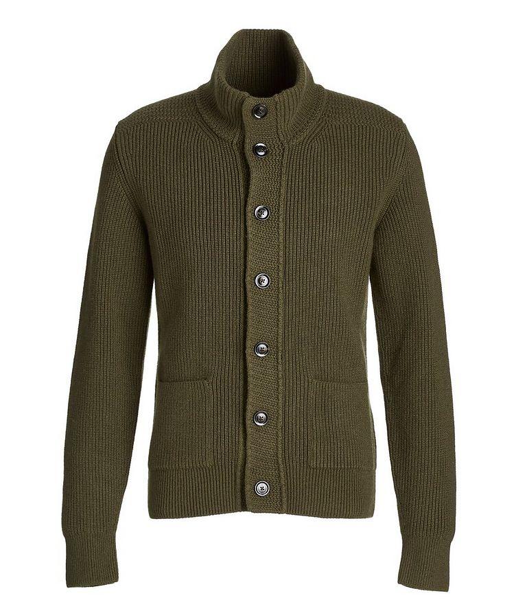 Ribbed Knit Cashmere Cardigan image 0