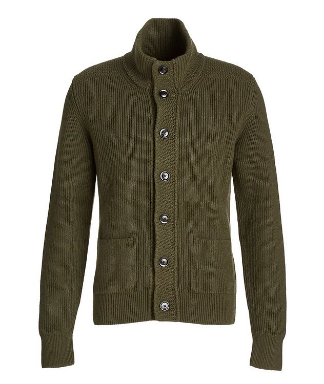 Ribbed Knit Cashmere Cardigan picture 1