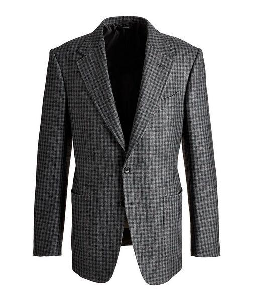 TOM FORD Shelton Checked Silk-Wool Sports Jacket