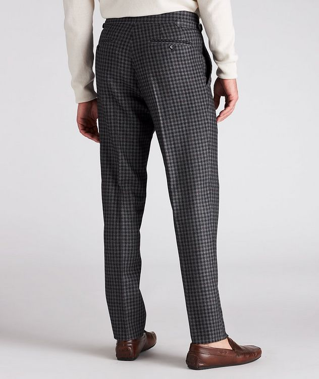 Checked Wool-Silk Dress Pants picture 3
