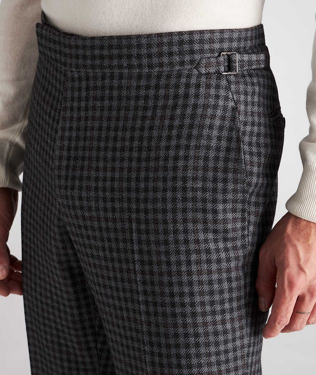 Checked Wool-Silk Dress Pants picture 4