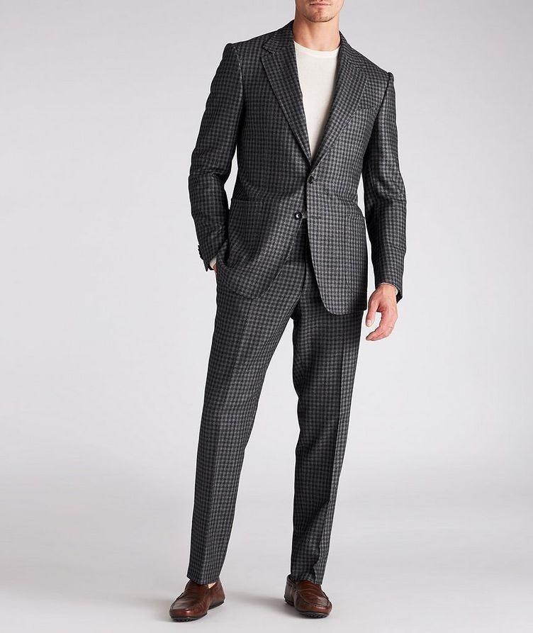 Checked Wool-Silk Dress Pants image 4