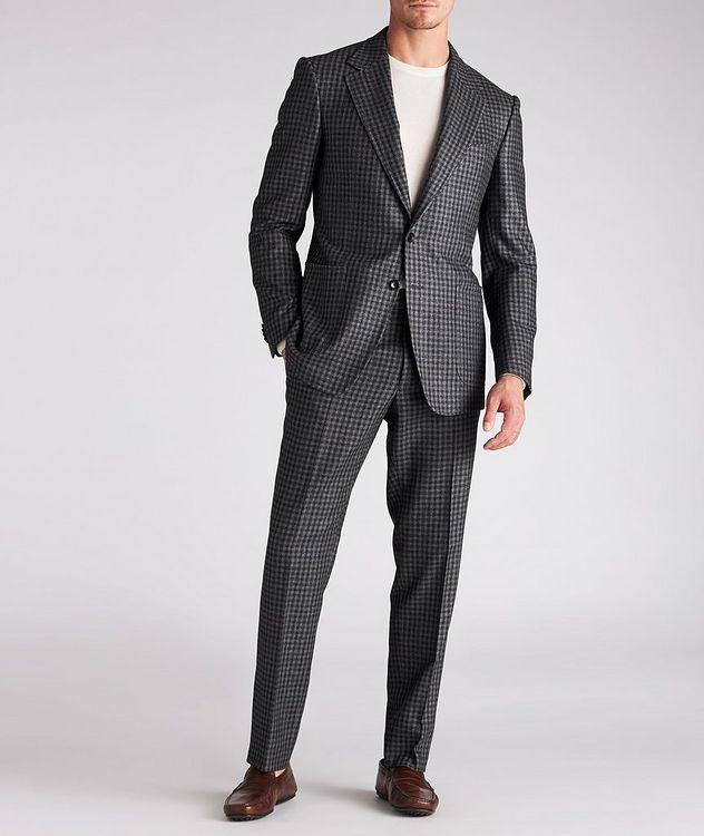 Checked Wool-Silk Dress Pants picture 5