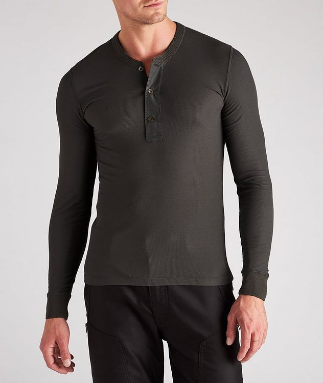 Stretch-Modal Knit Henley picture 2