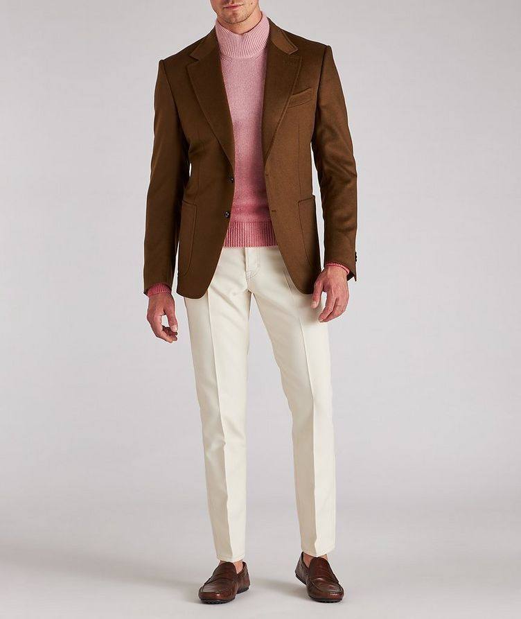 Dip-Dyed Cashmere, Mohair & Silk Sweater  image 4