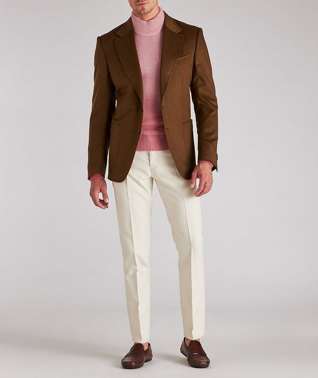 Dip-Dyed Cashmere, Mohair & Silk Sweater  picture 5