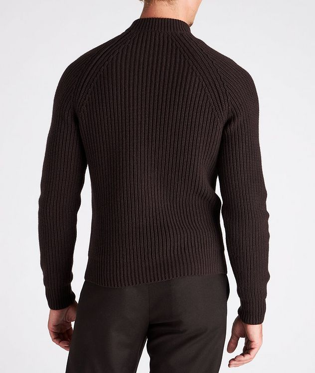 Ribbed Cashmere Mock Neck Sweater  picture 3