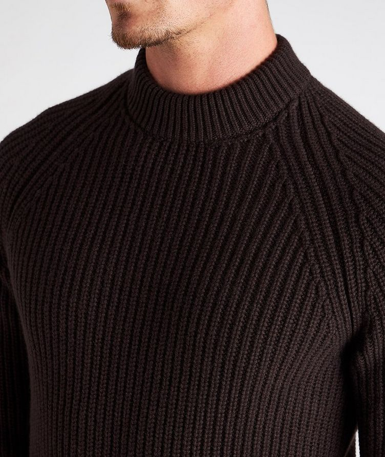 Ribbed Cashmere Mock Neck Sweater  image 3