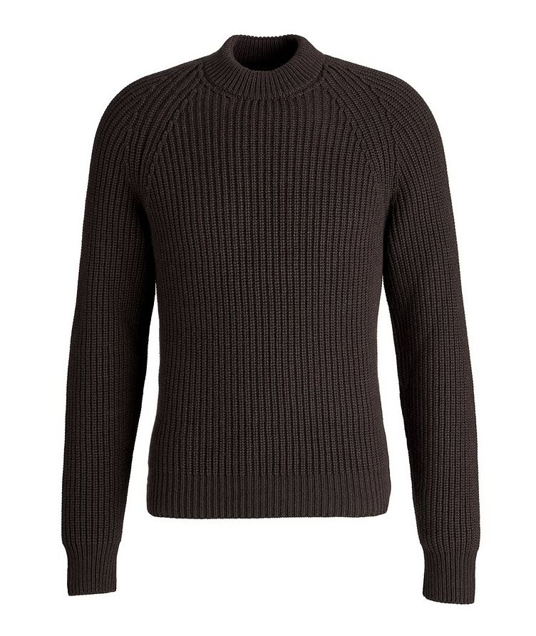 Ribbed Cashmere Mock Neck Sweater  image 0
