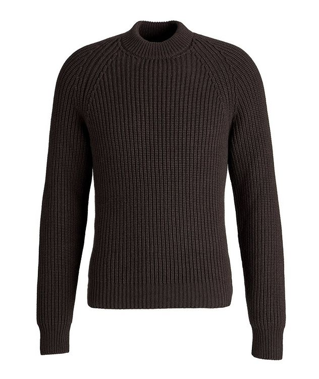 Ribbed Cashmere Mock Neck Sweater  picture 1