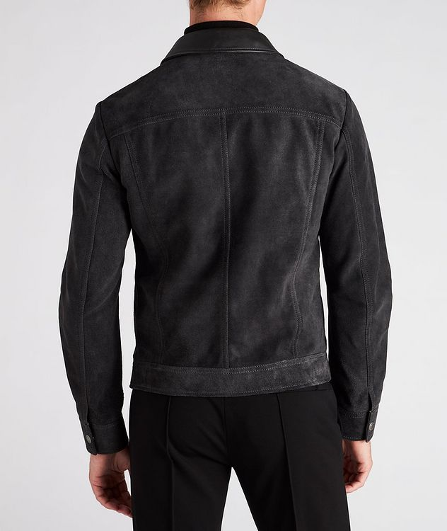 Leather-Trimmed Suede Field Jacket picture 3