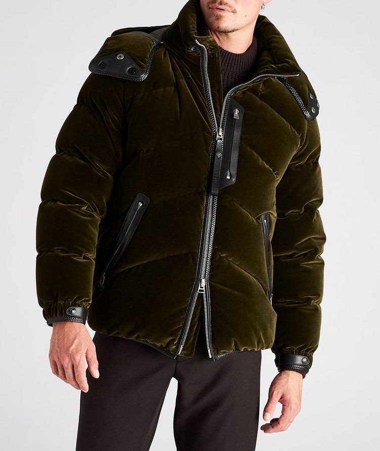 Velvet Quilted Down Jacket image 1