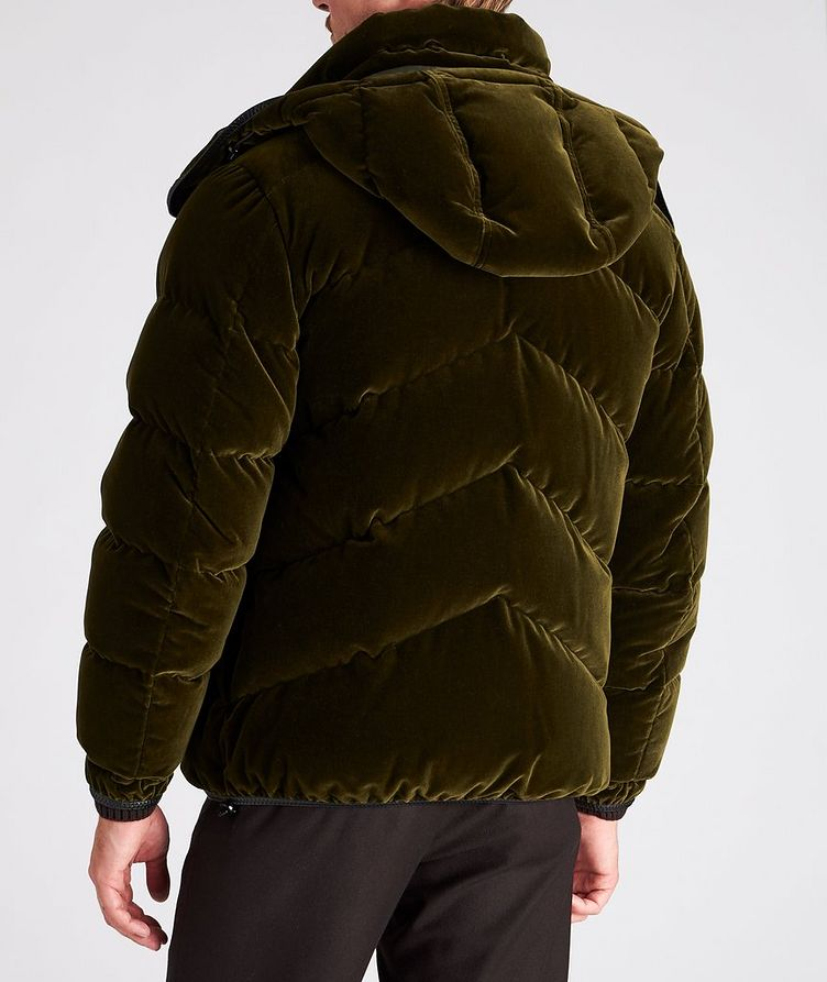 Velvet Quilted Down Jacket image 2