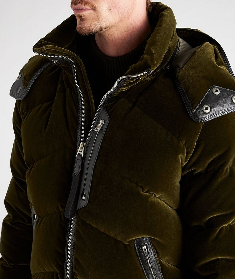 Velvet Quilted Down Jacket image 3