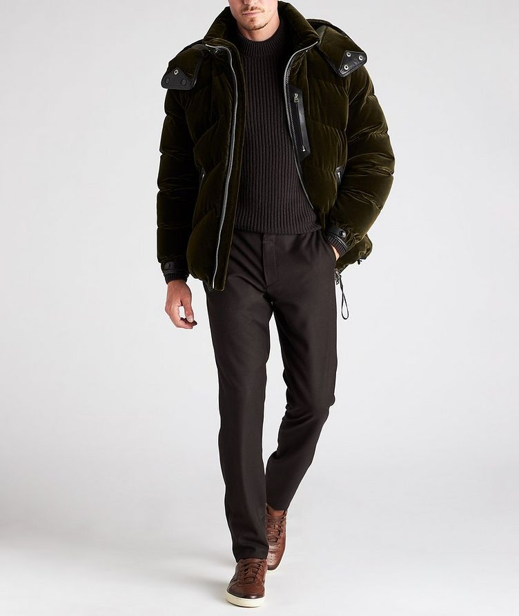 Velvet Quilted Down Jacket image 5