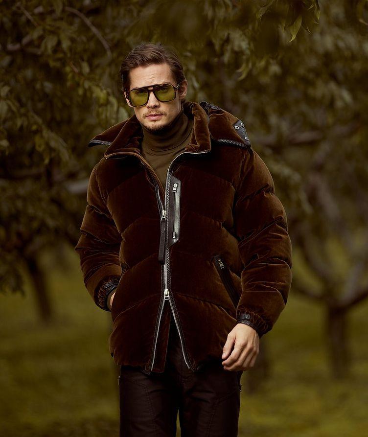 Manteau en velours et duvet image 6