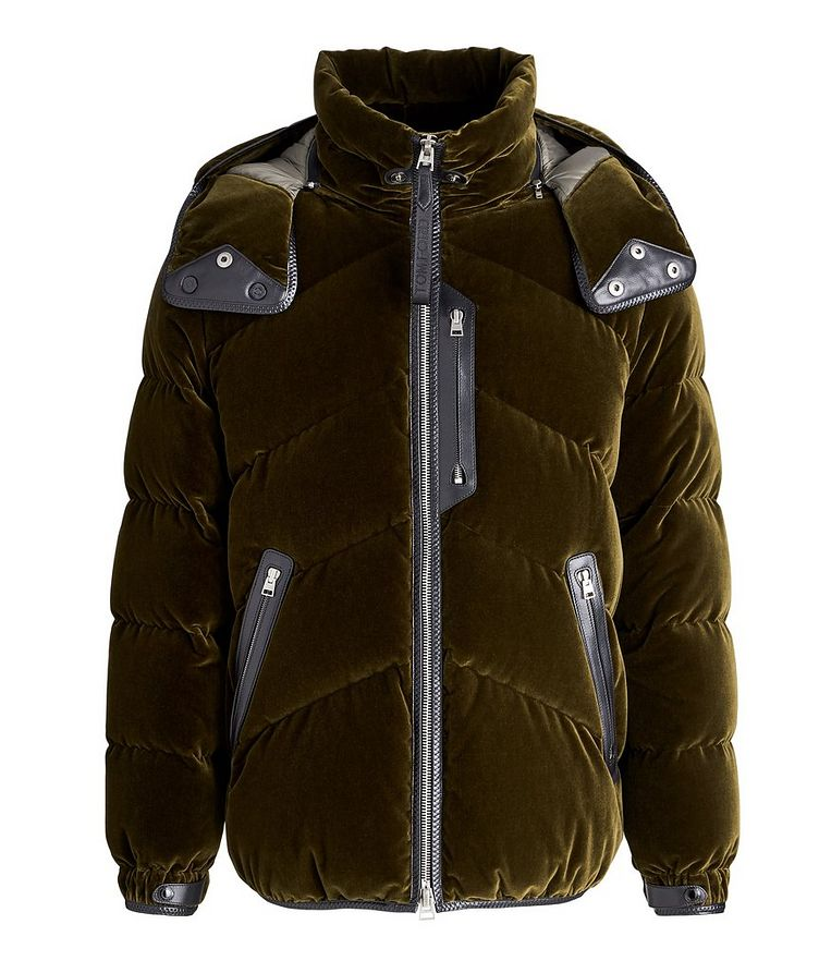 Velvet Quilted Down Jacket image 0