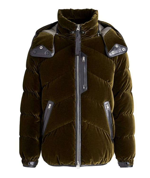 Velvet Quilted Down Jacket picture 1