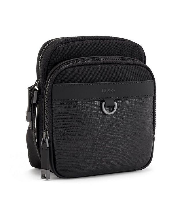 Trucker Mini Nylon and Leather Crossbody Bag picture 3