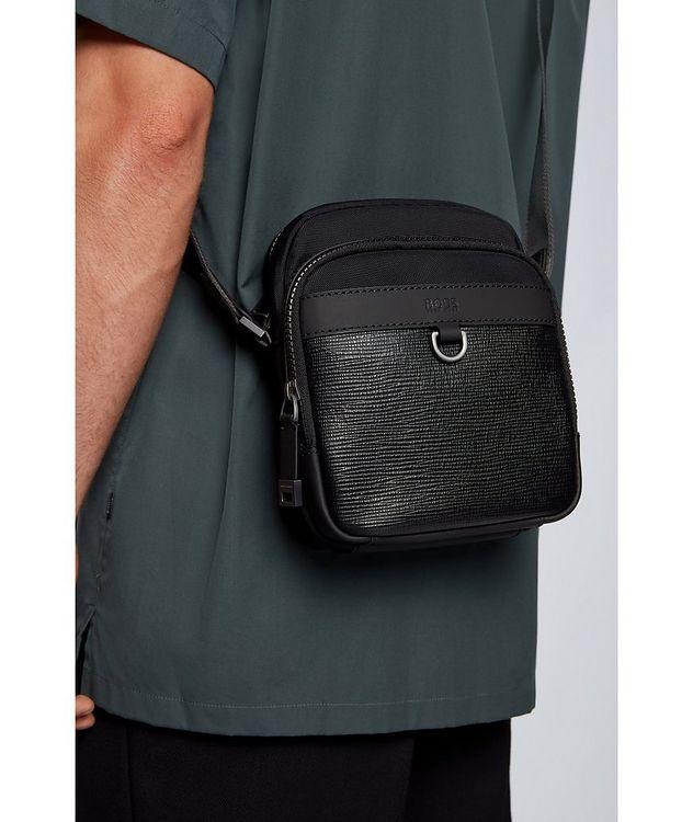 Trucker Mini Nylon and Leather Crossbody Bag picture 4