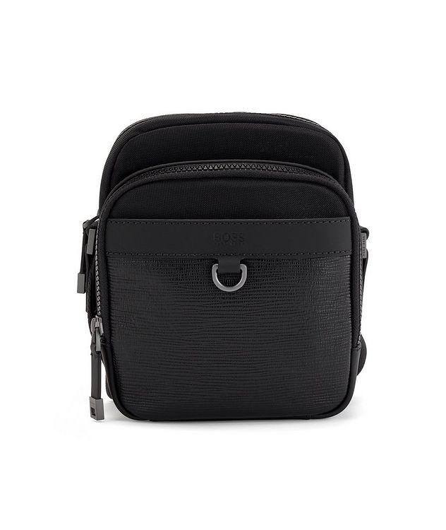 Trucker Mini Nylon and Leather Crossbody Bag picture 1
