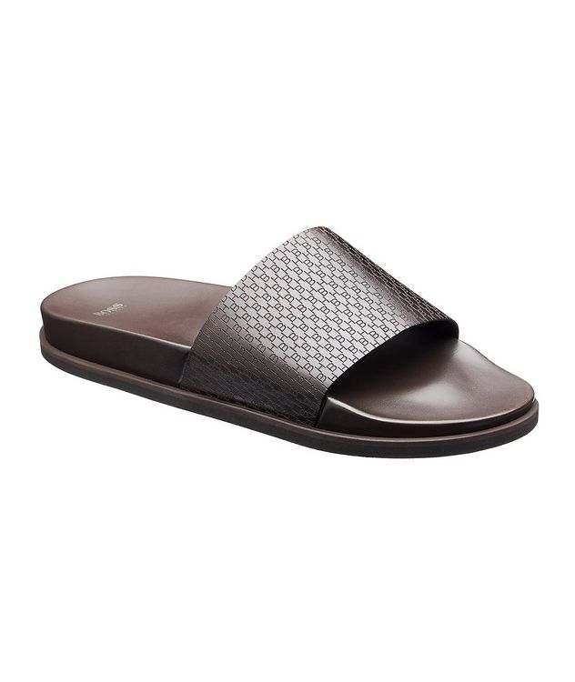 Cliff Leather Slides picture 1
