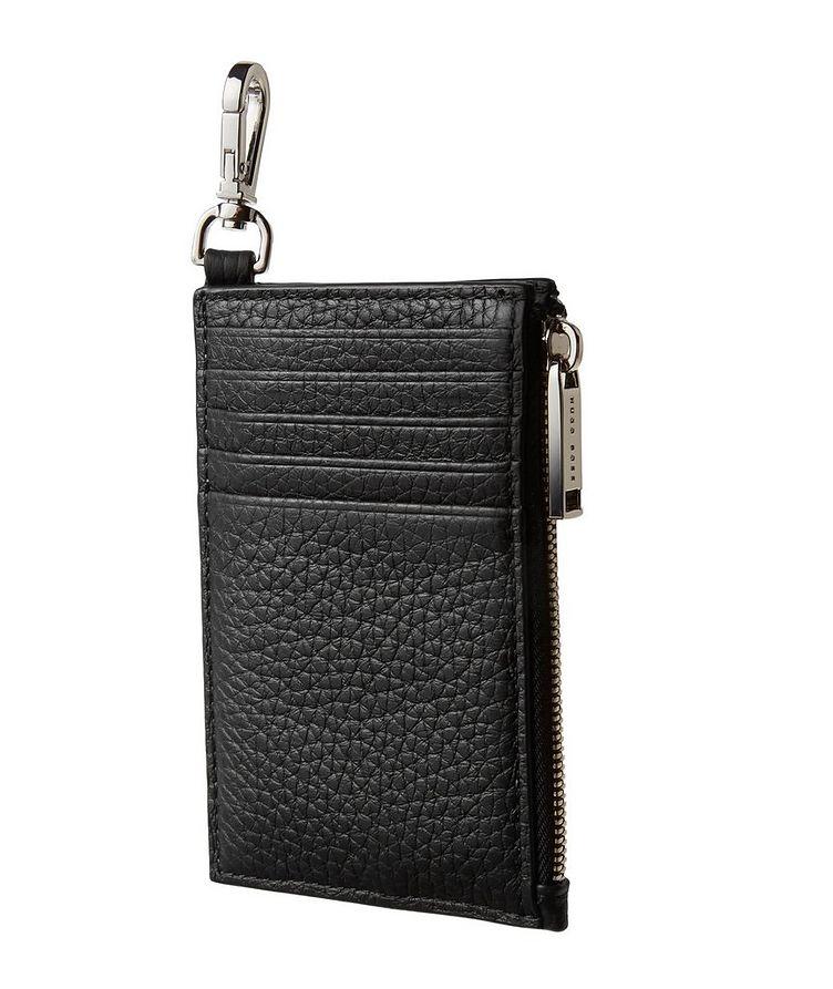 Leather Zip-Around Card Holder image 1