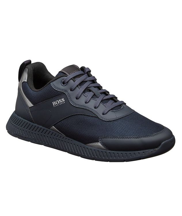 Panelled Low-Top Sneakers picture 1