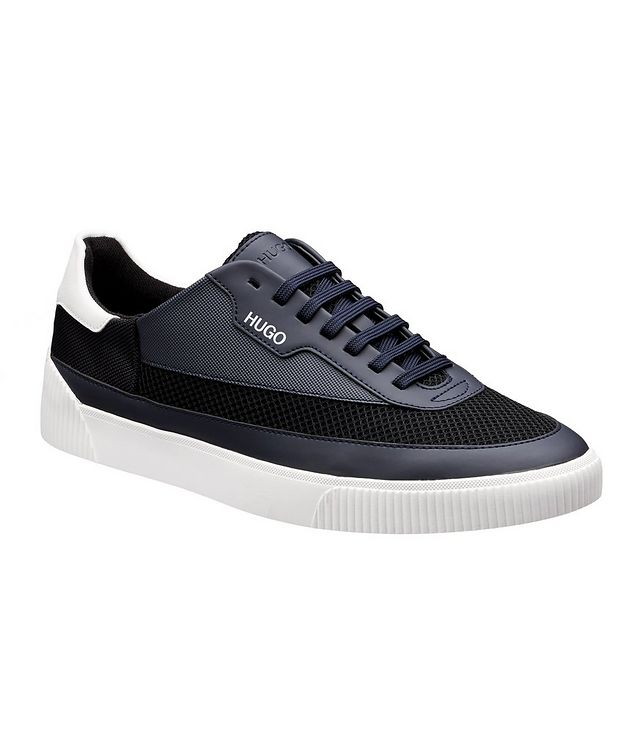 Zero Mixed Material Tennis Sneakers picture 1