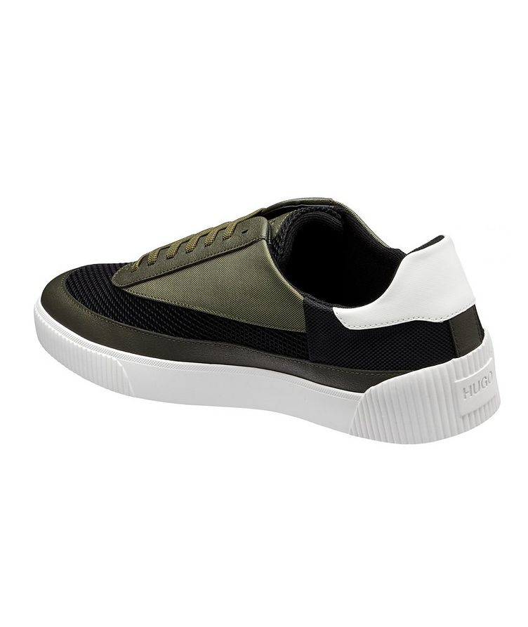 Zero Mixed Material Tennis Sneakers image 1