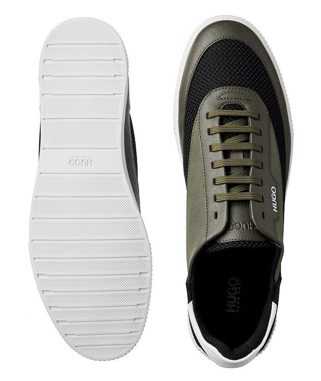 Zero Mixed Material Tennis Sneakers picture 3
