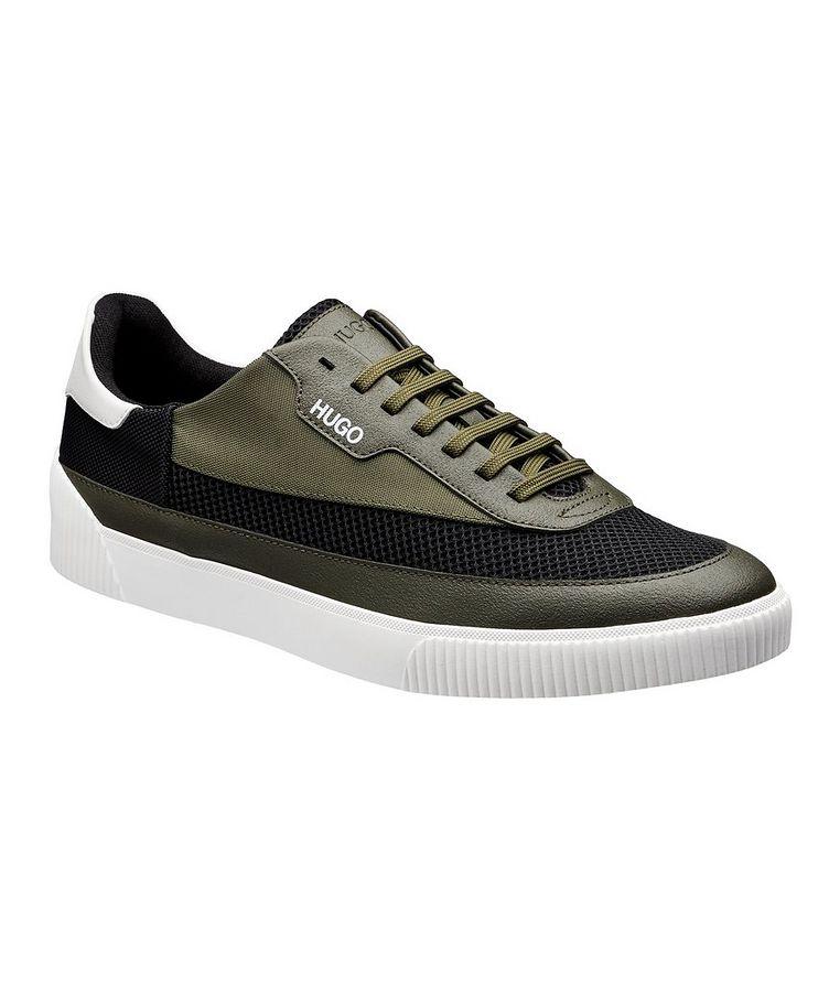 Zero Mixed Material Tennis Sneakers image 0
