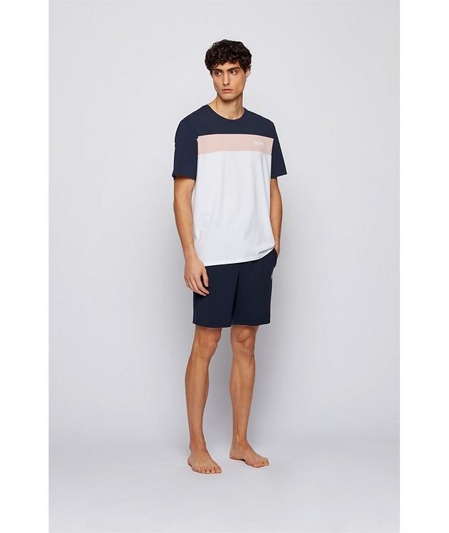 Balance Colour-Blocked Cotton-Blend T-Shirt picture 4