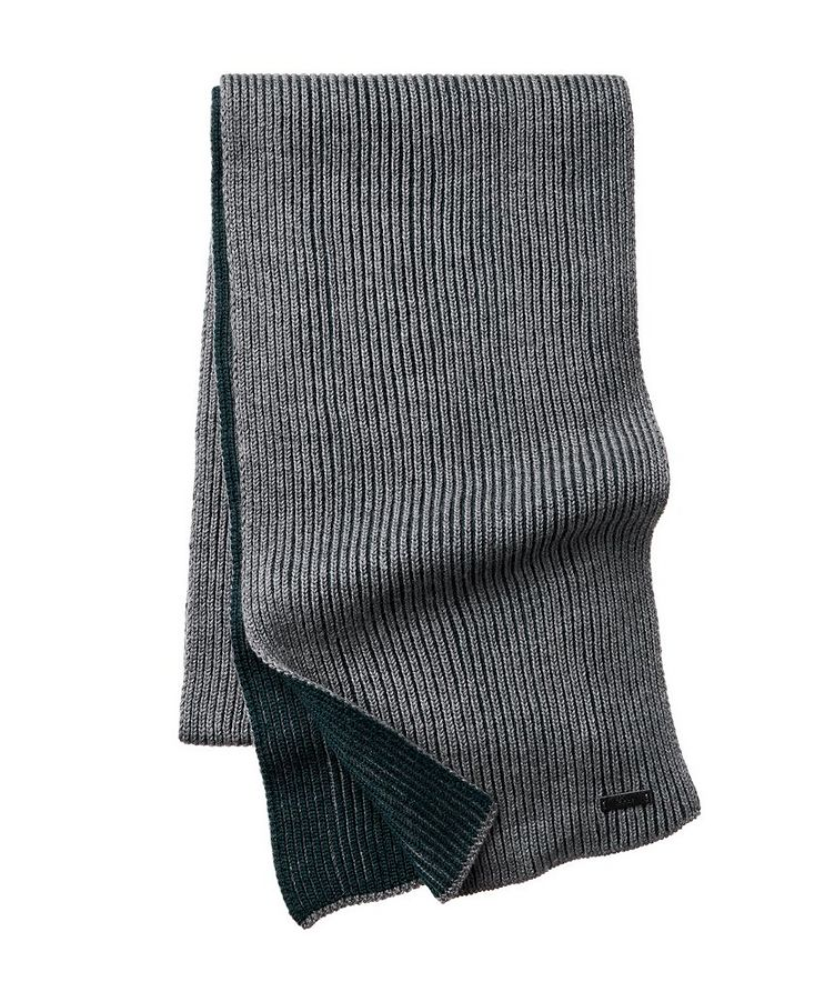 Nastro Ribbed Knit Wool Scarf image 0