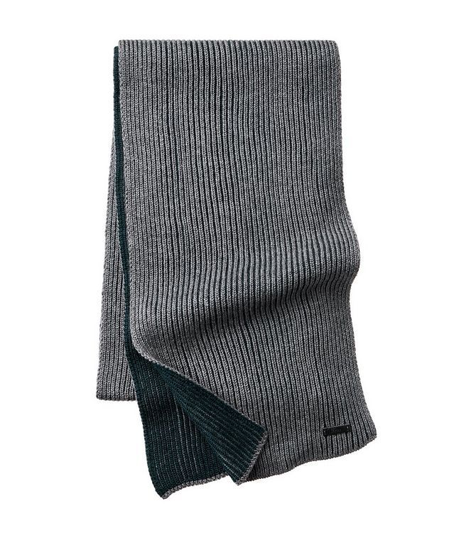 Nastro Ribbed Knit Wool Scarf picture 1