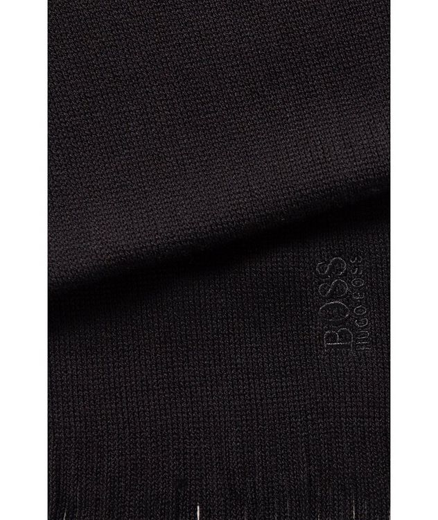 Embroidered Logo Wool Scarf picture 2