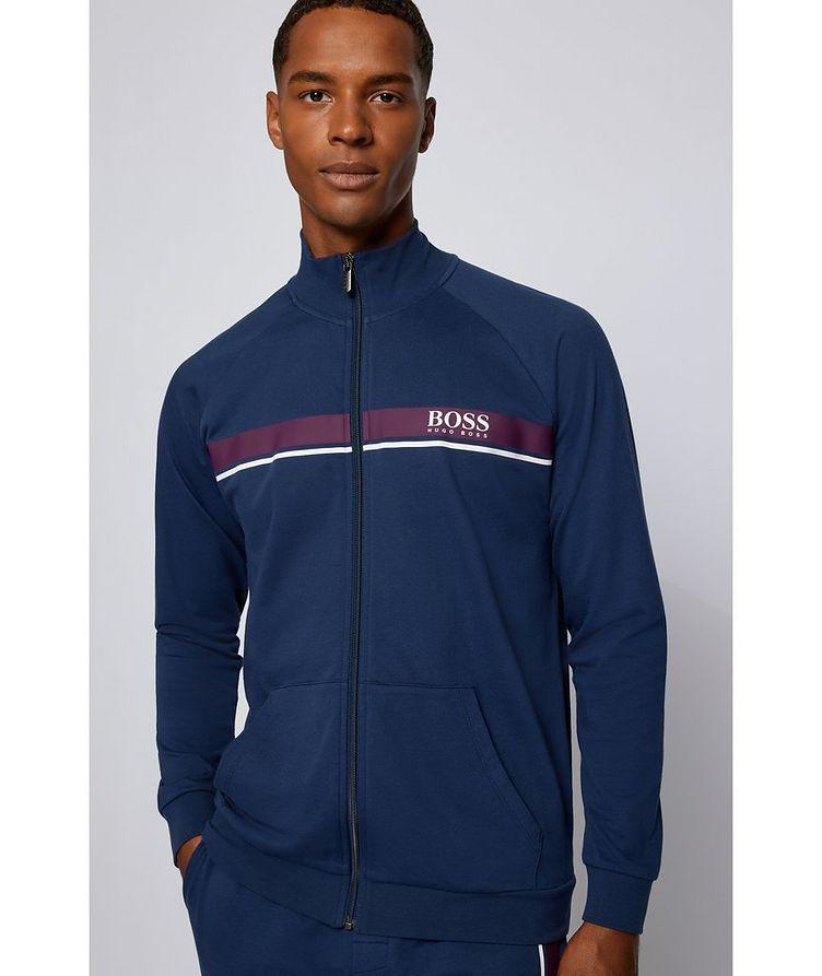 Zip-Up Cotton Sweatshirt  image 1