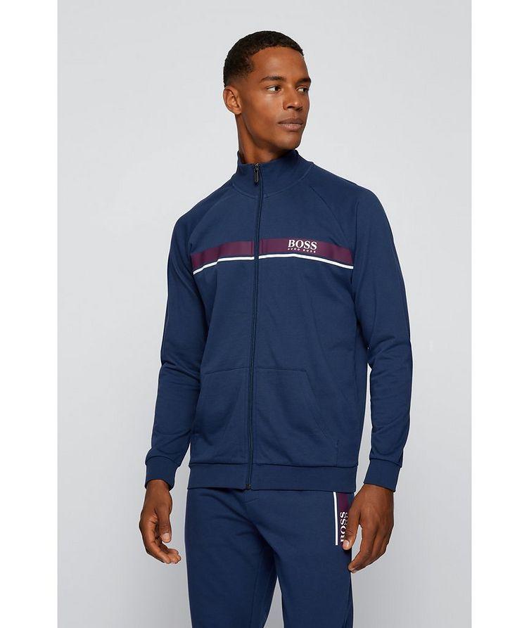 Zip-Up Cotton Sweatshirt  image 3